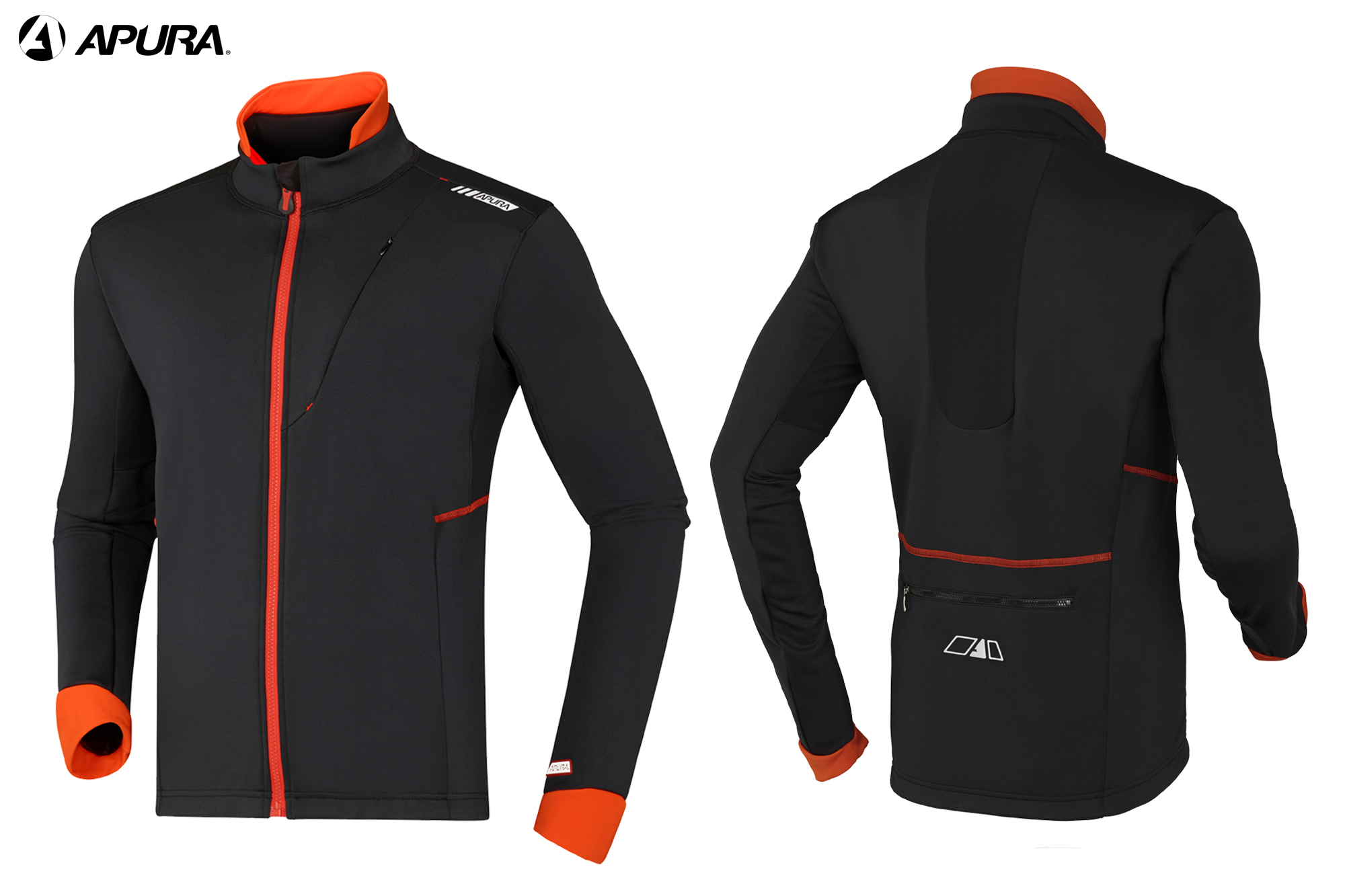 Apura Winterjacke Asset 2.0 schwarz-orange