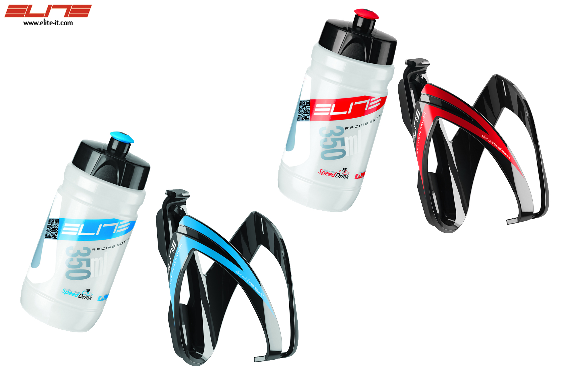 Elite Kit CEO - Trinkflasche + Halter-Set 350 ml-blau