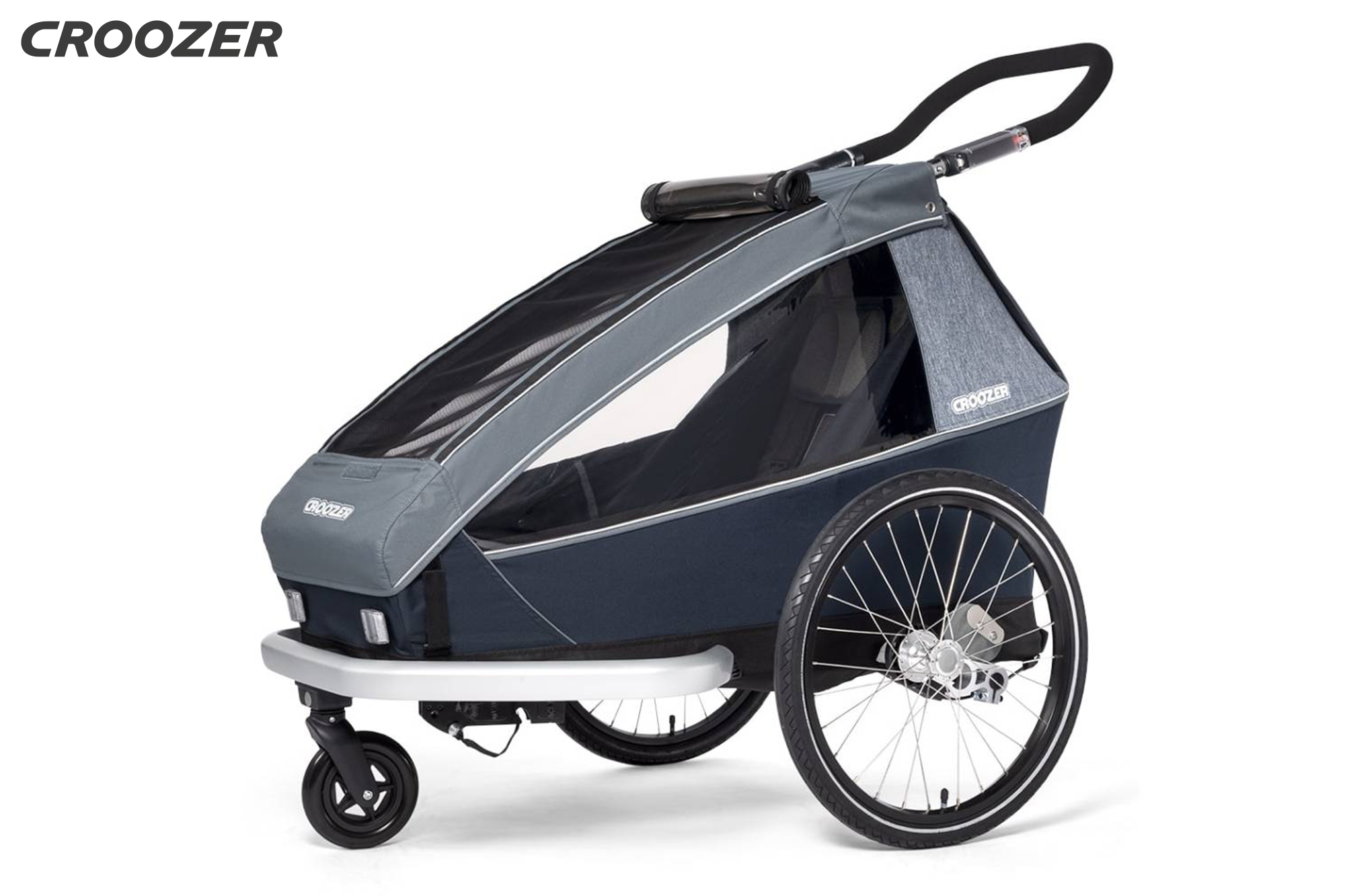 CROOZER Kid Vaaya 1, graphite blue - Kindertransportanhänger